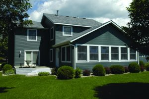 House with duck matte siding